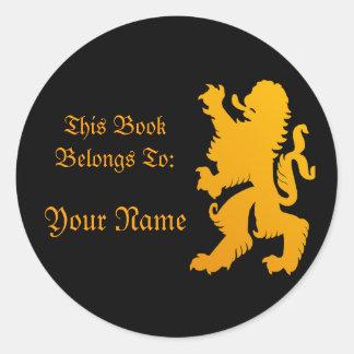Lion Book Label Sticker