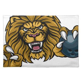 Lion Bowling Ball Sports Mascot Placemat