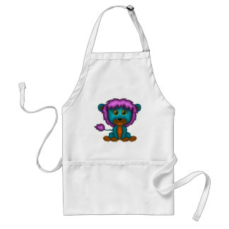Lion Cartoon in Colors Aprons