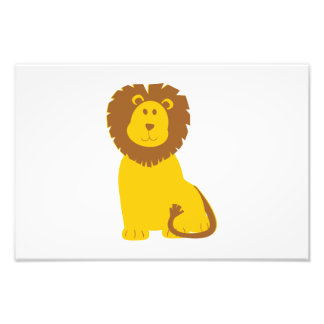 Lion cartoon photo print