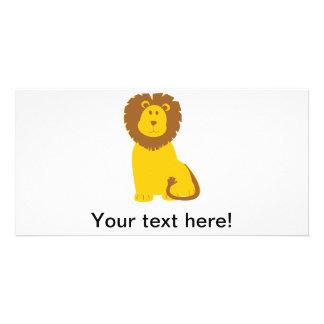 Lion cartoon photo cards
