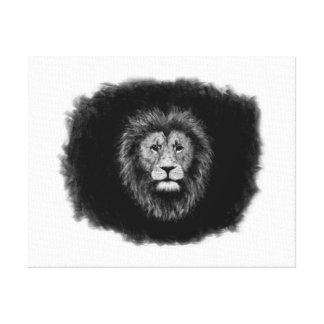 Lion Charcoal drawing Canvas Print