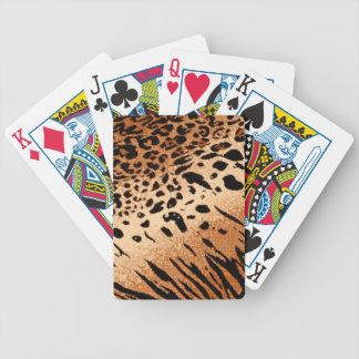 Lion Cheetah Tiger Big Cat Animal Print Poker Deck