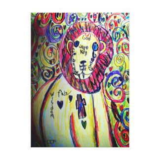 Lion  colorful canvas print