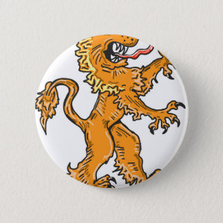 Lion Creature Sketch Vector 6 Cm Round Badge