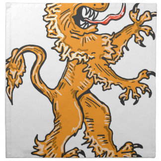 Lion Creature Sketch Vector Napkin