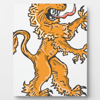 Lion Creature Sketch Vector Plaque
