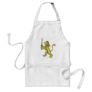 lion crest colored apron