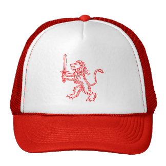lion crest red cap