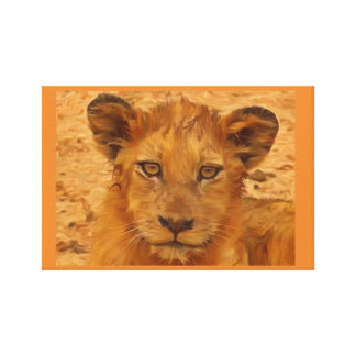 Lion cub canvas print