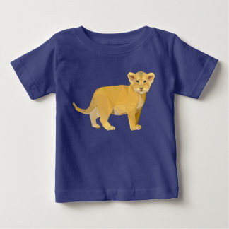 Lion Cub on Baby Fine Jersey T-Shirt