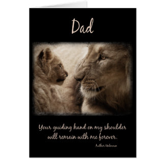 Lion Dad and Cub Father's Day for Dad Card
