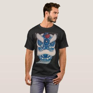 Lion Dance T-Shirt Blue Lion