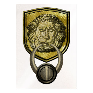 Lion Door Knob Business Card