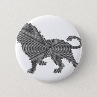 lion dots 6 cm round badge