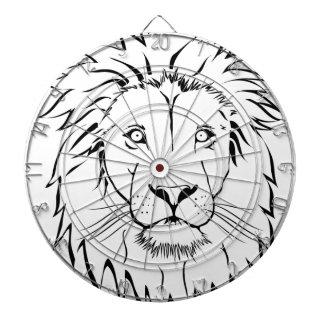 lion drawing vector design dartboard