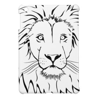 lion drawing vector design iPad mini cover
