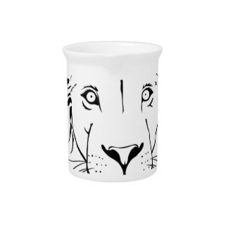 lion drawing vector design pitcher