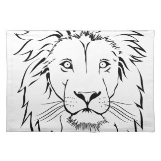 lion drawing vector design placemat