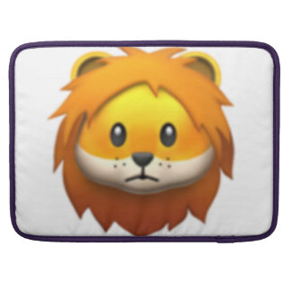 Lion - Emoji MacBook Pro Sleeve