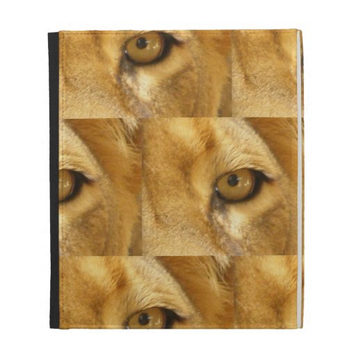 Lion eye iPad folio cases