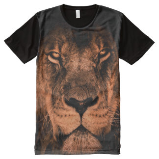 Lion Face All-Over Print T-Shirt