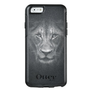 Lion Face Close Up Black and White Portrait OtterBox iPhone 6/6s Case