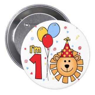 Lion Face First Birthday 7.5 Cm Round Badge
