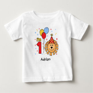 Lion Face First Birthday Baby T-Shirt