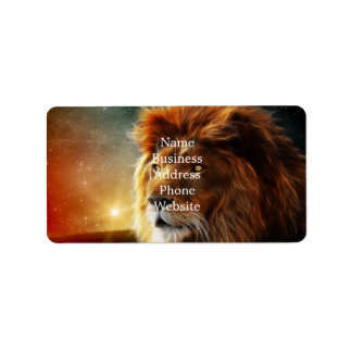 Lion face .King of beasts abstraction Address Label