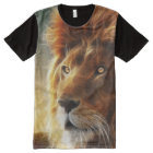 Lion face .King of beasts abstraction All-Over Print T-Shirt