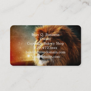 Lion face .King of beasts abstraction Business Card