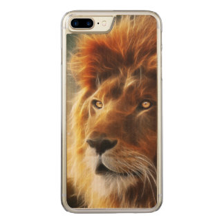 Lion face .King of beasts abstraction Carved iPhone 7 Plus Case