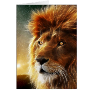 Lion face .King of beasts abstraction Note Card