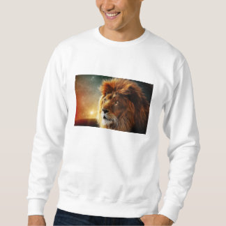 Lion face .King of beasts abstraction Pullover Sweatshirt