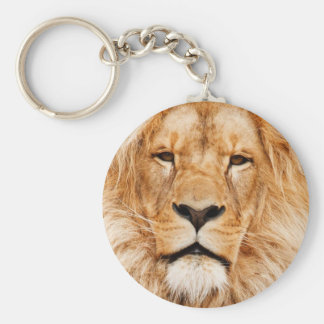 Lion Face Photograph Key Ring