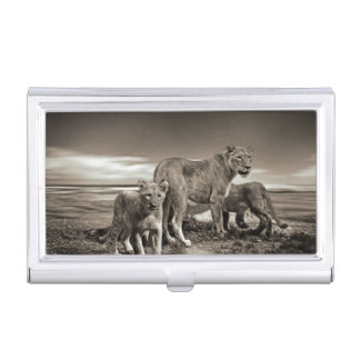 Lion Family Business Card Cases