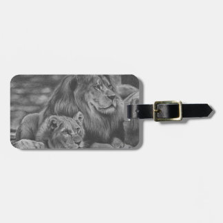 Lion family luggage tag