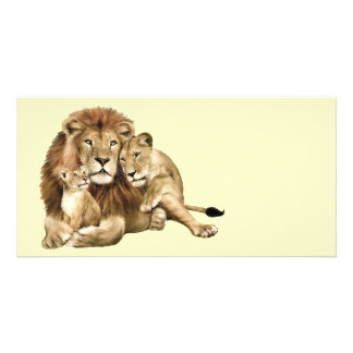 Lion Family Photo Cards