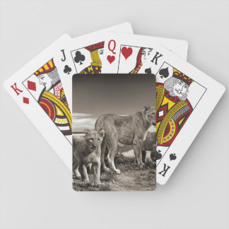 Lion Family Playing Cards