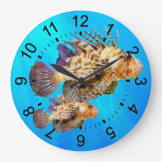 Lion Fish Large Clock