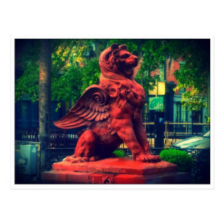 Lion Fountain Savannah Georgia Postcard