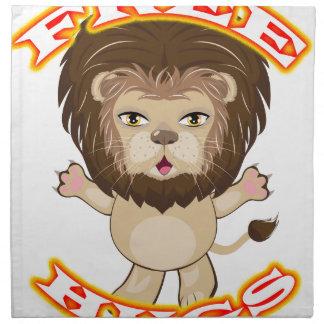 Lion Free Hugs Napkin