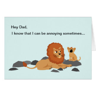 Lion Funny Father s Day Card