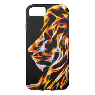 Lion Glow Line Art Fractal iPhone 7, Tough iPhone 7 Case
