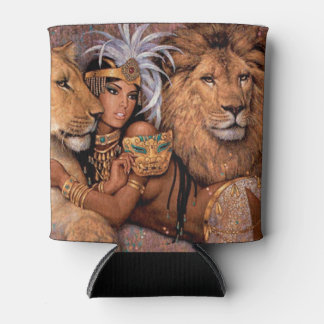 Lion Goddess Egyptian Princess Can Cooler