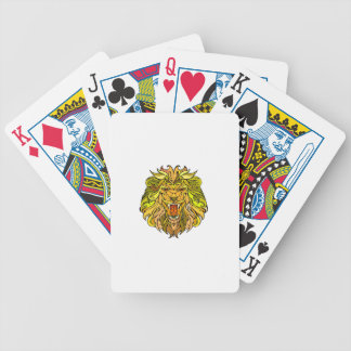 Lion graphic design bicycle playing cards