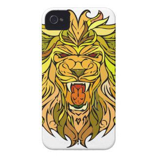 Lion graphic design Case-Mate iPhone 4 cases