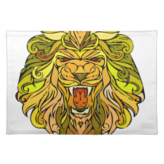 Lion graphic design place mat