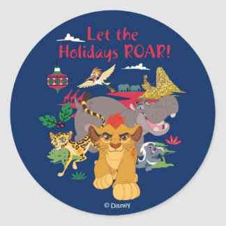 Lion Guard | Let The Holidays Roar Classic Round Sticker